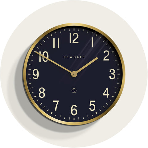 NEWGATE PUT373RAB Mr. Edwards clock radial brass seinäkello