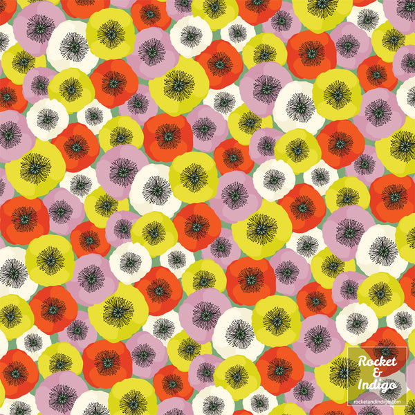 Poppies - field (pattern)