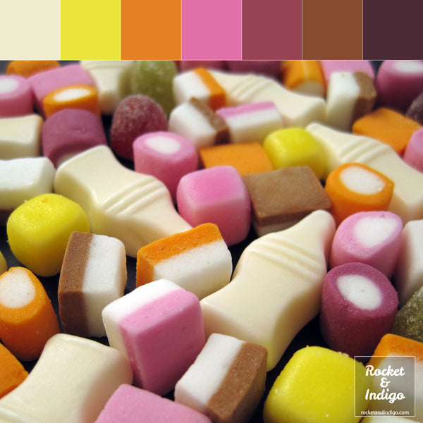 Sweet candy colour palette