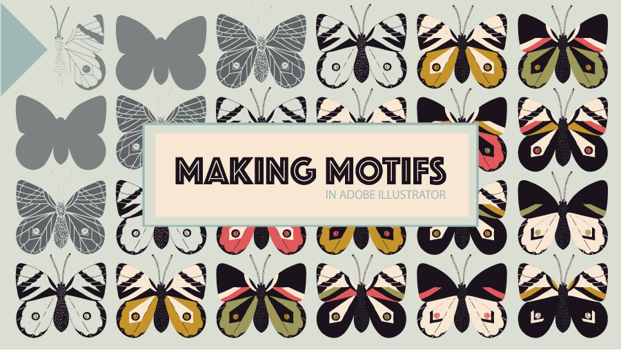 Making Motifs in Adobe Illustrator (Skillshare class)