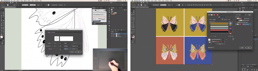 Skillshare class video screenshots