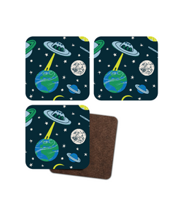 "Coasters, set of 4, ""UFO"""