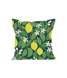 "Cushion, small, ""Lemon Tree"""
