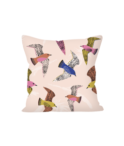 "Cushion, small, ""Swooping Birds"""
