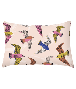 "Cushion, lumbar, ""Swooping Birds"""