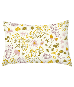 "Cushion, lumbar, ""Wildflower Walk"""