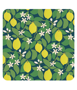 "Placemat, square, ""Lemon Tree"""