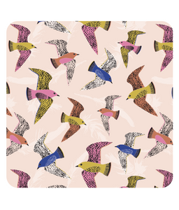 "Placemat, square, ""Swooping Birds"""
