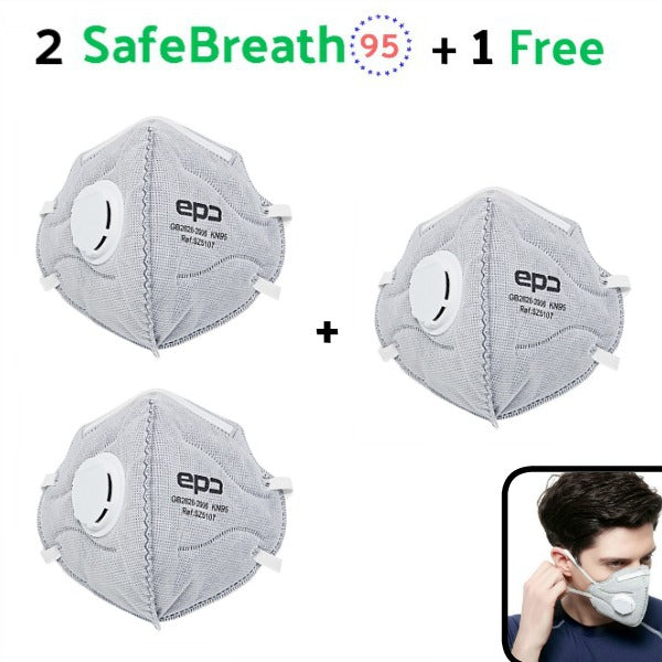 SafeBreath 95 - Protective Mask (Buy 2, Get 1 FREE ***special price)