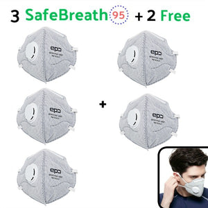 3 SafeBreath 95 - Protective Mask (Buy 3, Get 2 FREE!)
