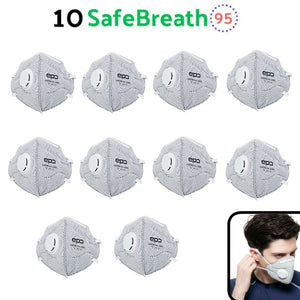 10 SafeBreath - Premium Quality KN95 Protective Mask