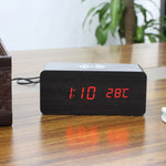 Jetster — Wooden Alarm Clock with Wireless Charger