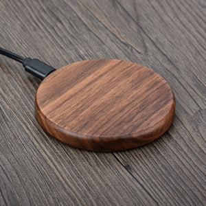 Woodie — Compact Wooden Stylized Wireless Charger