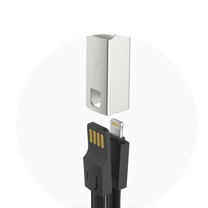 Jajo — Metal Leather Lightning USB Cable