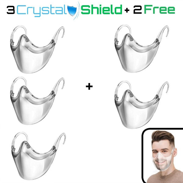 3 CrystalShield - Protective Transparent Mask (Buy 3, Get 2 FREE!)