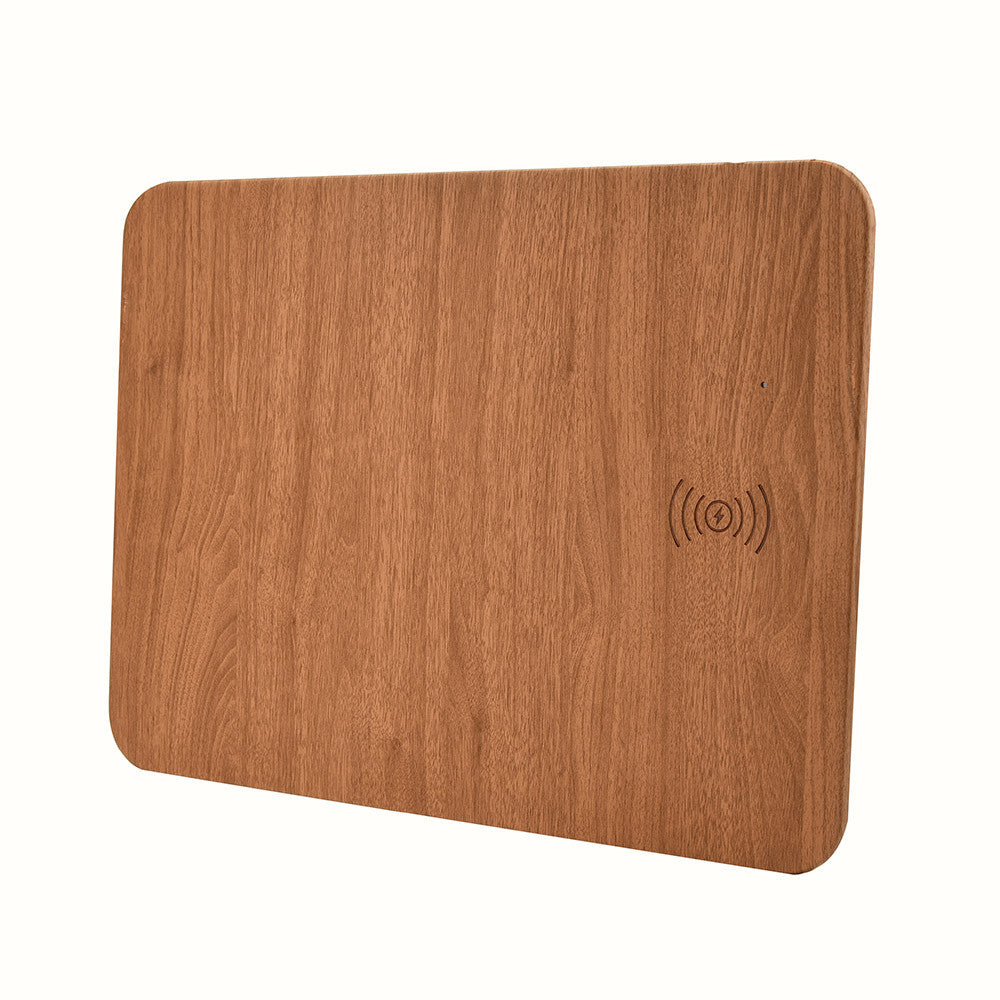 WoodPad — Premium Wood Style Mat with Wireless Charger
