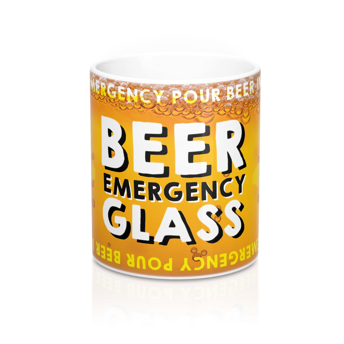 Emergency Beer Glass Mug 11oz
