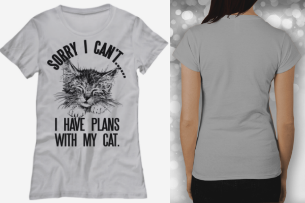 Sorry I can't.. I Have Plans With My Cat Cute Women's Tee