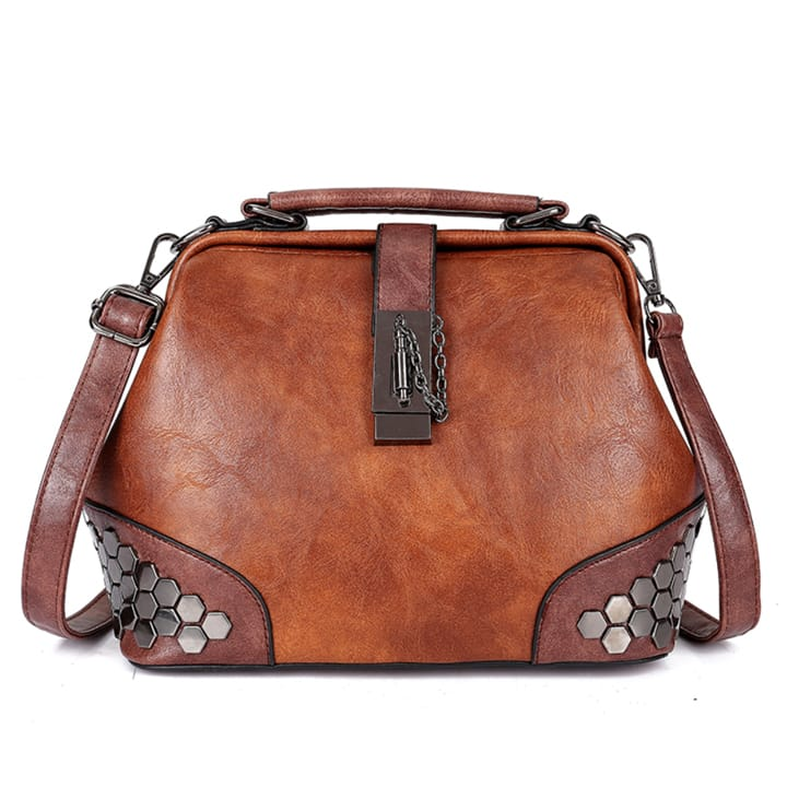 Mynti — Shell Leather Handbag