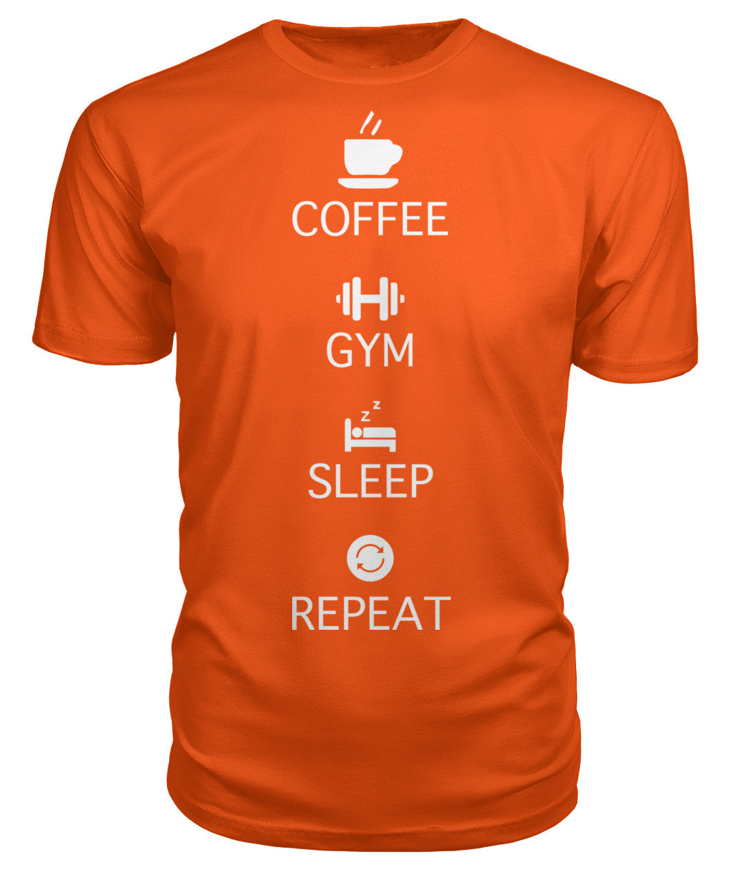 Coffee Gym Sleep Repeat - Premium Unisex T-Shirt