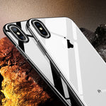 Crystal X - Ultra Premium Frame Color Case Cover for iPhoneX Elastic Black