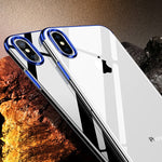 Crystal X - Ultra Premium Frame Color Case Cover for iPhoneX Elastic Blue