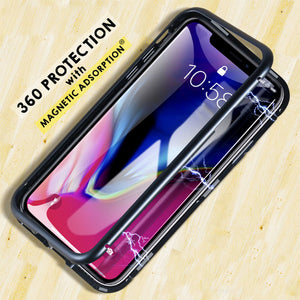 Magnet X — Elegant Full Protective 360 Degree Cover with Tempered Back Glass for iPhone X