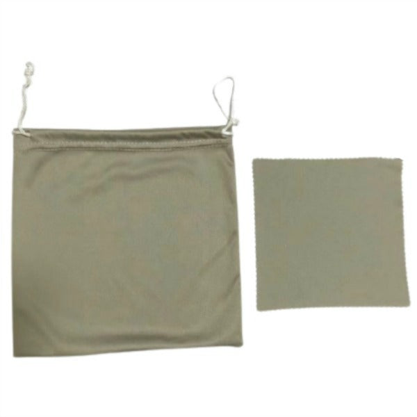 1 Pack Microfiber Pouch Bag for CrystalShield with Cleaning Cloth