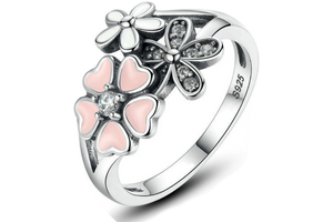 Blossom Beauty - Poetic Blossom Beautiful Silver Ring