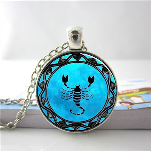 Blue Scorpio - Pendant Necklace