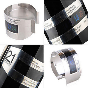 WineBand — Stainless Steel Wine Bracelet Thermometer