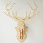 Einer — Wooden Veneer DIY Deer Head (Big Size)