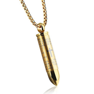 Meetz — Bullet Stainless Steel Prayer Pendant