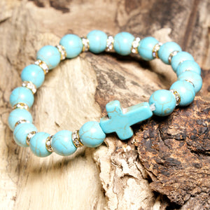 Moonify — Bead Stone Cross Bracelet