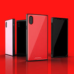 Square X — Luxury Fashion Square Tempered Glass Case For iPhone X