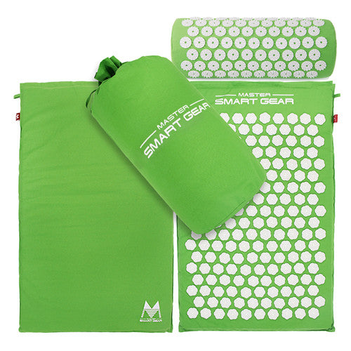 Master Acupressure Mat and Pillow Set - Green Grass