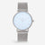 ITHNAAN - Azure Watch Face with Silver Metal Strap