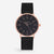 ITHNAAN - Noir/Rose Gold Watch Face with Black Metal Strap