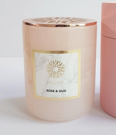 Pink Stone Rose & Oud Luxury Scented Candle