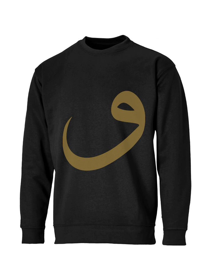 Gold Wow Sweatshirt Black