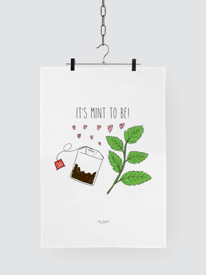 'It's Mint To Be!' Tea Towel