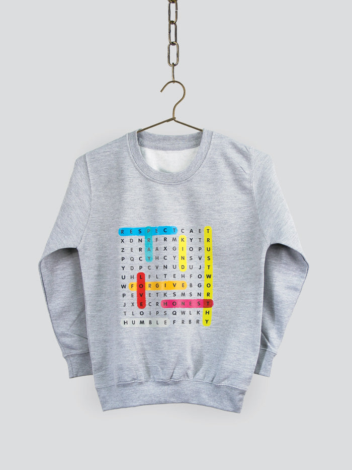 Characteristics Crossword Sweatshirt