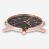 ITHNAAN - Noir/Rose Gold Watch Face with Cream Leather Strap