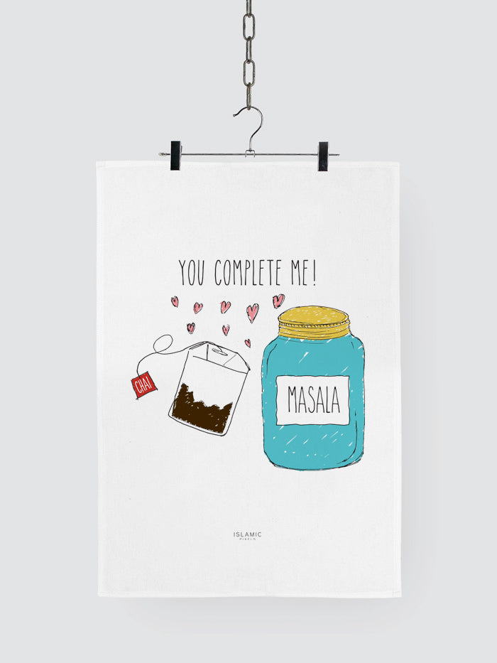 'You Complete Me' Tea Towel
