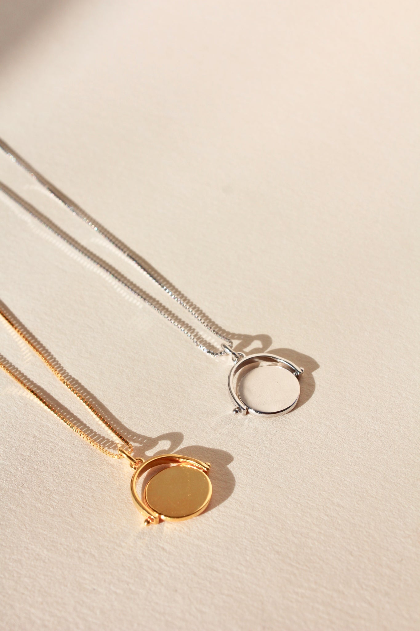 925 Spinning Disc Pendant Gold