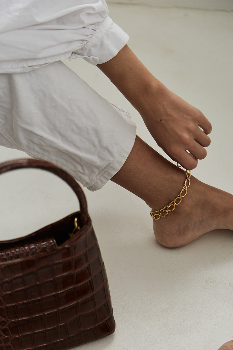 Link Chain Anklet Gold