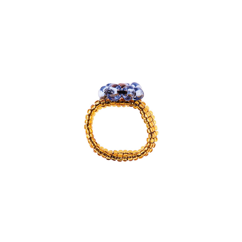 POMS Floral Ring - Blue