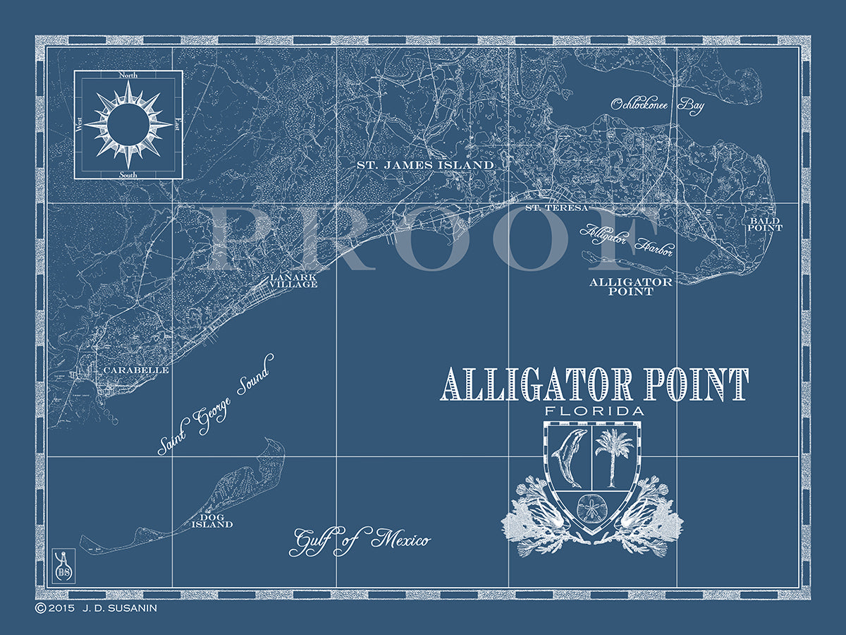 Alligator Point Florida Map Map of Alligator Point, FL | Custom maps | Bank and Surf