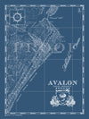 Map of Avalon, New Jersey