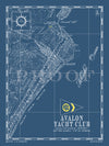 Map of Avalon Yacht Club, New Jersey